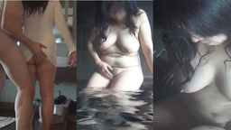 Saddle rolled hot spring date with a mature woman